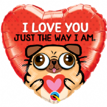 "Love You Just The Way I Am Foil Balloon (18"") 1pc"